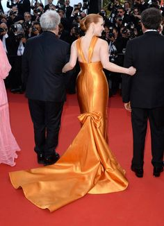 Jessica Chastain in Armani Prive attends the 70th anniversary event during the 70th annual Cannes Film Festival at Palais des Festivals on May 23 2017 in Cannes...