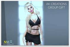 Black Outfit Free AK Creations Group Gift
