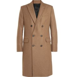AMI Double-Breasted Wool-Blend Overcoat | MR PORTER