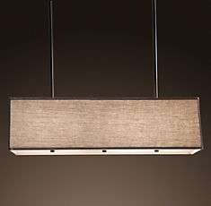 RH rectangular shade pendant Want this for over kitchen table!