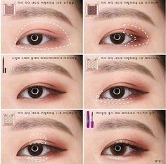 makeup Asian cute - Makeup tutorial asian eyes make up 69 ideas Korean Makeup Look, Korean Makeup Tips, Asian Eye Makeup, Korean Makeup Tutorials, Eye Makeup Tips, Makeup Trends, Makeup Inspo, Makeup Eyeshadow, Beauty Makeup