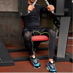 2019 Gym New Men Running Pants Compress Gymming Leggings Men Fitness Workout Summer Sporting Fitness Male Breathable Long Pants Excellent In Cushion Effect Sports & Entertainment