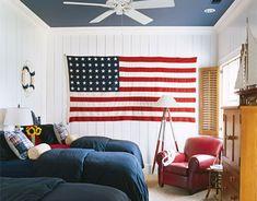 nautical/patriotic bedroom