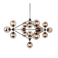 Ecolight Art Deco Modo Chandeliers 15 Lights Amber Glass E26 E27 Living Dining Room Foyer Parlor Hall Bar Lights 110V 220V