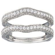 Embellish your solitaire bridal ring with a stylish and fashionable ring enhancer. The widest selection of ring guards, ring wraps, and contour wedding rings by leading designers.