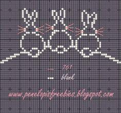 Penelopis' cross stitch freebies: bunny/kroliczek