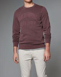 Mens Logo Graphic Crew Sweatshirt