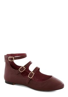 ModCloth Betsey Johnson Make Your Denmark Flat in Oxblood