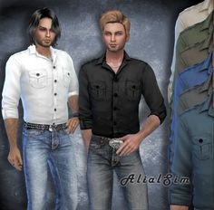 Sims 4 Updates: Alial Sim - Clothing, Male : Shirt M, Custom Content Download!