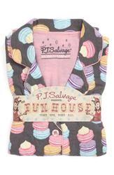 PJ Salvage Print Flannel Pajamas in Grey Macarons  $58.00