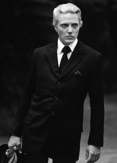 """I'd love to do a character with a wife, a nice little house, a couple of kids, a dog, maybe a bit of singing, and no guns and no killing, but nobody offers me those kind of parts."" Christopher Walken."
