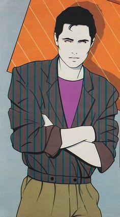 PATRICK NAGEL Mens Illustration of PERRY ELLIS Spring Summer 1981 design