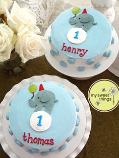 Sweet elephants for twins turning 1! ~  My Sweet Things