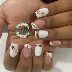Semi Permanente, Cute Nail Designs, French Nails, Cute Nails, Nail Art, Beauty, Purple Nails, White Nails, Gel Nails
