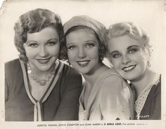 Joyce Compton, Loretta Young, Joan Marsh, via Flickr.