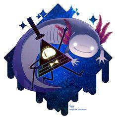 This is Axolotl! Gravity Falls Fan Art, Gravity Falls Bill Cipher, Dipper E Mabel, Desenhos Gravity Falls, Bipper, Reverse Falls, Billdip, Arte Horror, Owl House