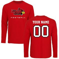 6e396a8da Illinois State Redbirds Personalized Football Long Sleeve T-Shirt - Red