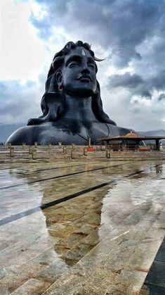 Adiyogi Shiva statue Coimbatore Tamil Nadu.