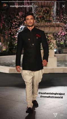 Mens Wedding Wear Indian, Indian Groom Wear, Wedding Dress Men, Indian Wedding Outfits, Wedding Men, Wedding Suits, Fashion Moda, Suit Fashion, Mens Fashion