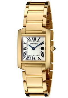 Cartier W50002N2 Women's Tank Francaise Ivory Dial 18k Yellow Gold Watch