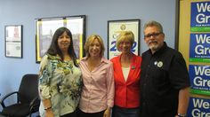 ILWU Local 63 President, Mike Podue, and ILWU SCDC President, Cathy Familathe, with Congresswoman Janice Hahn and the next Mayor of Los Angeles WENDY GREUEL!