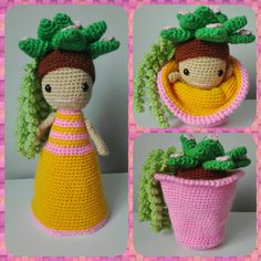 Best 12 Crochet Cactus Ideas For Brown Thumbs – SkillOfKing. Crochet Cactus, Diy Crochet, Crochet Dolls, Crochet Flowers, Crochet Baby, Crafts For Kids, Arts And Crafts, Diy Crafts, Cupcake Dolls