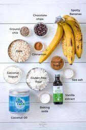 Le meilleur pain aux bananes aux pépites de chocolat végétalien et sans gluten Healthy Banana Bread, Sans Gluten, Baking, Fruit, Food, Vegan Banana Bread, Bakken, Essen, Meals