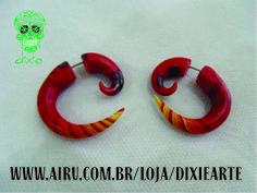 Falso Alargador Espiral  www.airu.com.br/loja/dixiearte