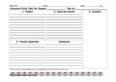 Free printable cut and paste activities for first grade reciprocal teaching worksheets worksheet literature classroom printables . Reading Worksheets, Worksheets For Kids, Reciprocal Reading, Book Review Template, Teaching Strategies, Comprehension Strategies, Reading Comprehension, Teaching Literature, Authors Purpose