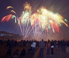 Le feu d'artifices est tiré du parc des expositions du Mans.