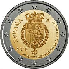 monedas en 2018 #monedas #en #2018 Money Notes, Money Box, Piece Euro, Gold Detector, Euro Coins, Coins Worth Money, Gold Money, Coin Worth, Commemorative Coins