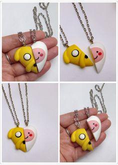 GUO GUO'S The Original Adventure Time Heart Necklace por GUOCRAFTS