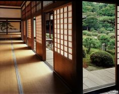 tatami mat floors and soji screen walls. I love the openness of Japanese design. How awesome would it be to have your own little dojo in your backyard? Japanese Style House, Traditional Japanese House, Japanese Interior Design, Japanese Design, Asian Architecture, Architecture Design, Pavilion Architecture, Sustainable Architecture, Residential Architecture