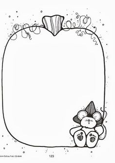 CLIP ART 53 - Betiana 3 - Picasa Web Albums Colouring Pages, Adult Coloring Pages, Coloring Books, Borders For Paper, Borders And Frames, Teddy Bear Crafts, Dj Inkers, Robot Theme, Scrapbook Borders