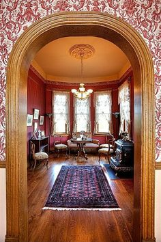 How one couple built a new house with the old plans for an 1885 Queen Anne Victorian in Kansas. Victorian Style Decor, Victorian Interiors, Victorian Design, Victorian Homes, House Interiors, Victorian Life, Nebraska, Old House Design, Old Fashioned House