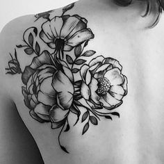 My peonies tattoo