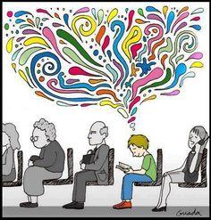 Un mundo de mil colores gracias a la lectura.