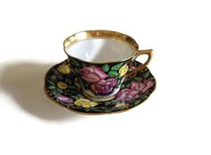 Rosina Bone China Tea Cup and Saucer Made by TreasuresFoundShoppe