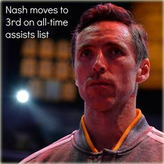 Nash 3rd all-time assist man