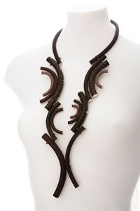 Necklace | Jed Green. Glass and silver.