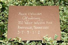 Custom Wedding Calligraphy for Envelope Addressing - Place Cards, Escort Cards, Invitations and More Also Available