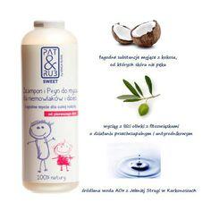 Płyn do mycia ciała i włosów PAT & RUB SWEET, można stosować od 1. dnia życia. 100 % naturalnych składników roślinnych z certyfikatem ekologicznym.