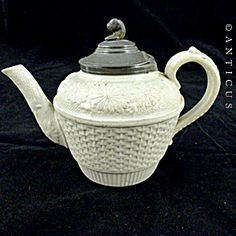 Salt Glaze Victorian Child's Teapot.