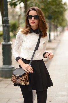 mod black and white with animal print