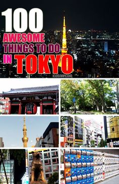 100 Things to do in Tokyo Pin