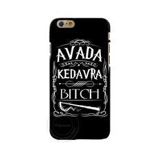 Avada kedavra camisa cadela para harry potter projeto casos de cobertura de telefone para a apple iphone 4 4s 5 5s 5c 6 6 s 7 plus 6 splus casca dura