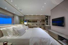 72 lindos quartos de casal decorados cheios de charme e boas ideias para aproveitar o espaço pequeno e deixar o ambiente organizado. Veja aqui 72 fotos!