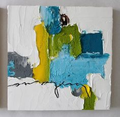 "ORIGINAL | ""Abstract Triptych"" series #3 - Donna Downey Studios Inc - 2"