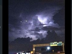 This UFO was seen hovering over Houston during a rainstorm last week by hundreds of resid