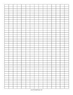 Graph Paper With A 2 To 1 Grid Layout. Free To Download And Print